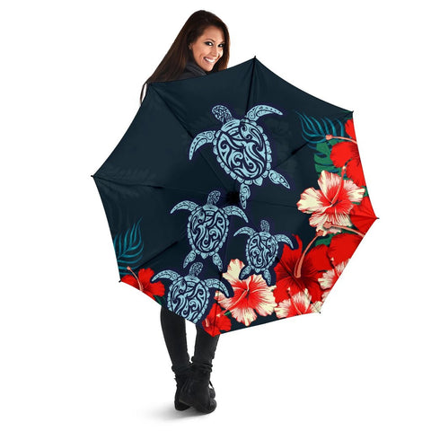 Hibiscus And Turtle Skillful Umbrella - AH - J1 - Alohawaii