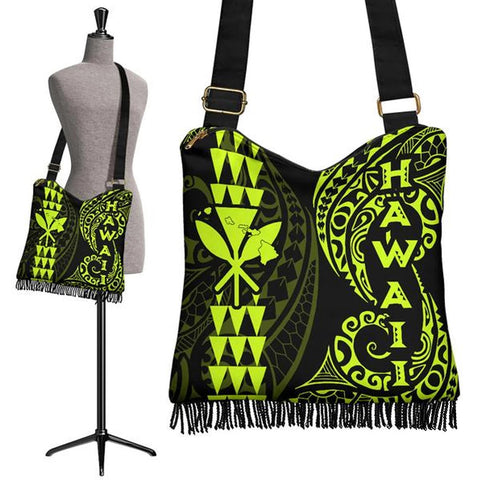 Image of Hawaii Polynesian Crossbody Boho Handbag Neon - AH J4