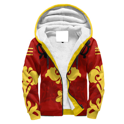 Image of Alohawaii - Hawaiian Quilt Style Sherpa Hoodie | Alohawaii.co