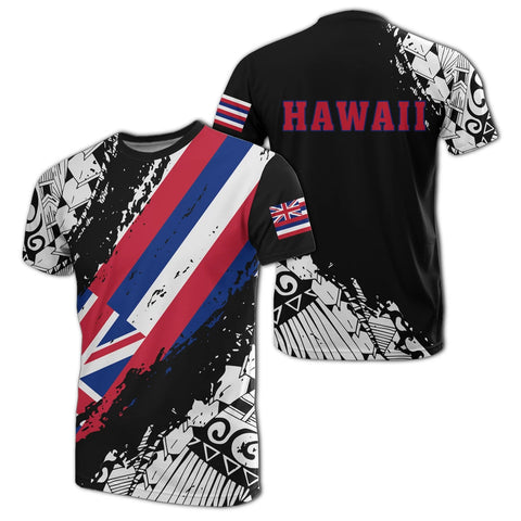 Hawaii Flag Polynesian T-shirt - Nora Style J9 - Alohawaii