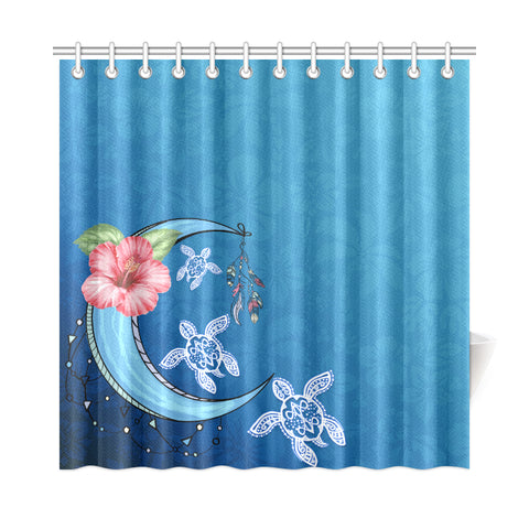 Blue Moon Shower Curtain - AH - J4 - Alohawaii