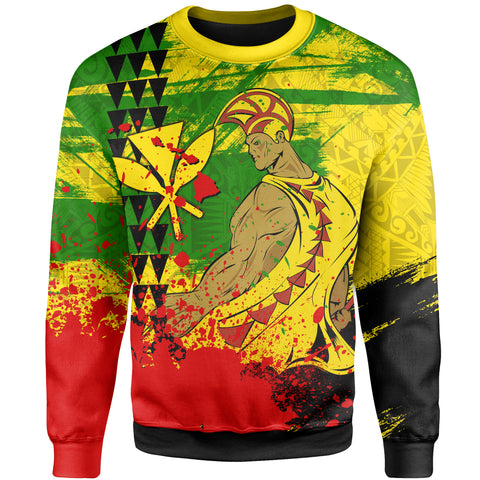 Image of Hawaii Reggae Kanaka Maoli Warrior Spearhead Sweatshirt