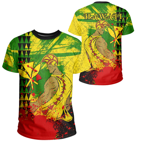 Image of Hawaii Reggae Kanaka Maoli Warrior Spearhead T-shirt