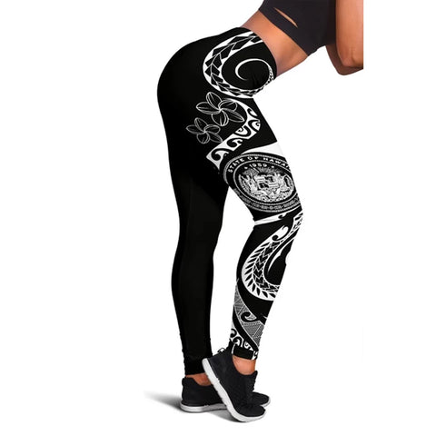 Hawaii Coat Of Arms Polynesian Leggings - AH J9 - Alohawaii