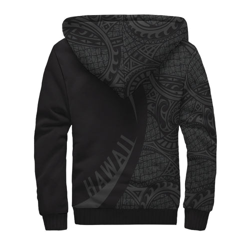 Image of Kanaka Hawaii Map Grey Polynesian Sherpa Hoodie - Circle Style AH J4 - Alohawaii