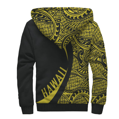 Hawaii Turtle Yellow Polynesian Sherpa Hoodie - Circle Style - AH J4 - Alohawaii