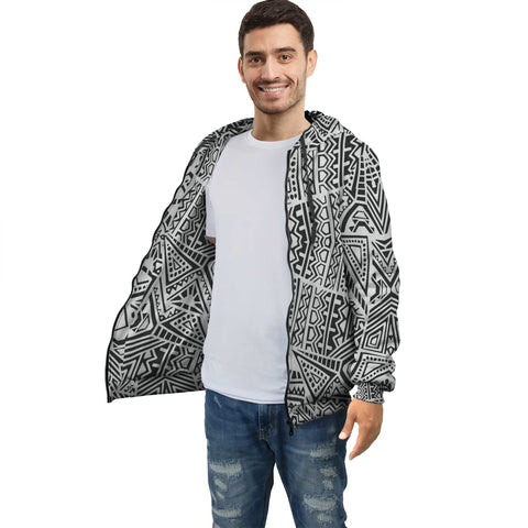 Hawaiian Pattern Inside Print Zip Hoodie - AH J4 - Alohawaii