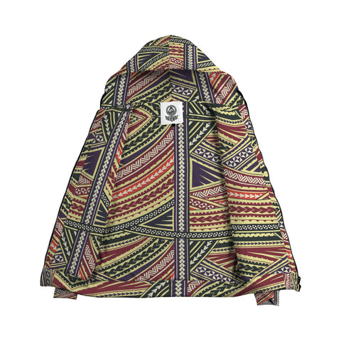 Color Polynesian Inside Print Zip Hoodie - AH J4 - Alohawaii