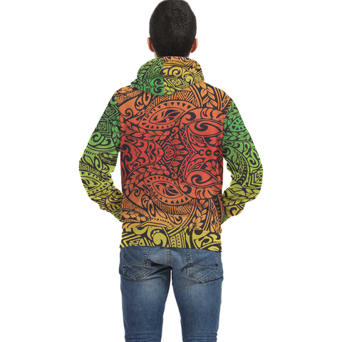 Wonder Colorful Inside Print Zip Hoodie - AH J4 - Alohawaii