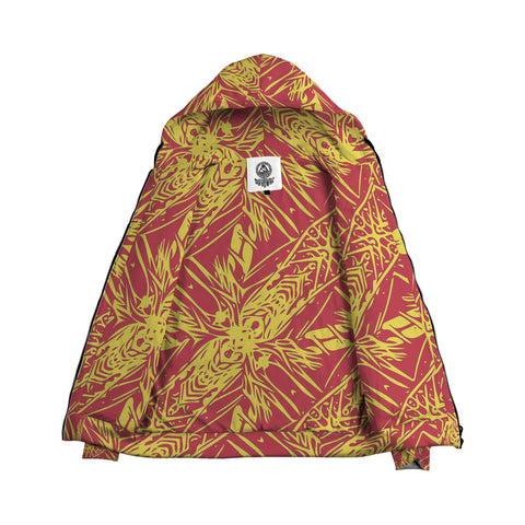 Orange Polynesian Inside Print Zip Hoodie - AH J4 - Alohawaii