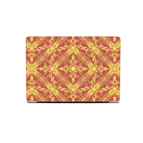 Polynesian Macbook Case Orange - AH - J1 - Alohawaii