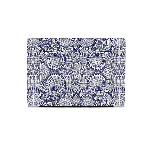 Polynesian MacBook Case Blue And White - AH - J1 - Alohawaii