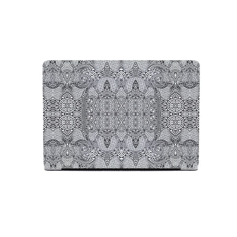 Polynesian MacBook Case Black And White - AH - J1 - Alohawaii