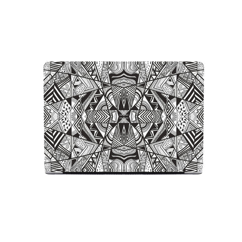 Polynesian Tribal MacBook Case White And Black - AH - J1 - Alohawaii