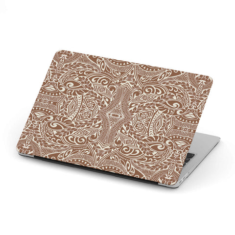 Polynesian Tribal MacBook Case Brown - AH - J1 - Alohawaii