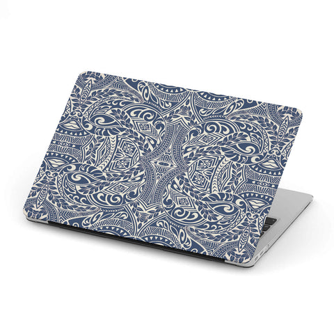 Polynesian MacBook Case Blue - AH - J1 - Alohawaii