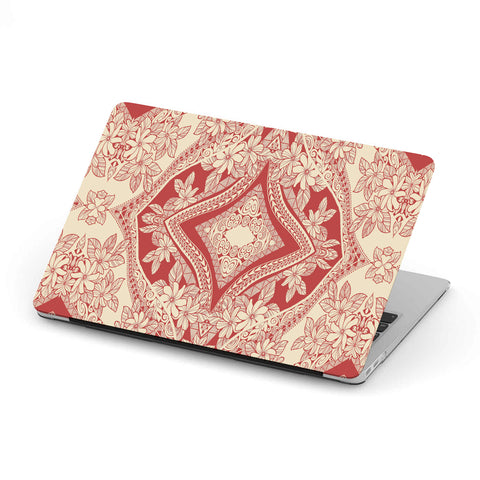 Polynesian MacBook Case Red And Yellow - AH - J1 - Alohawaii