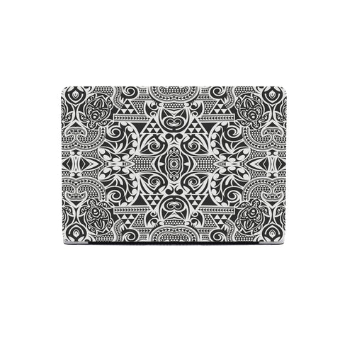 Polynesian Tribal MacBook Case Black White - AH - J1 - Alohawaii