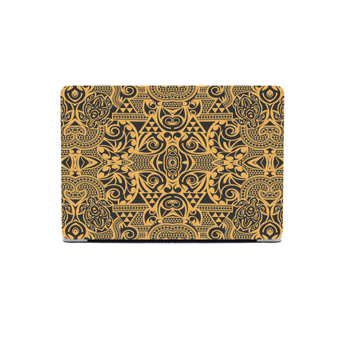 Polynesian MacBook Case Yellow Black - AH - J1 - Alohawaii