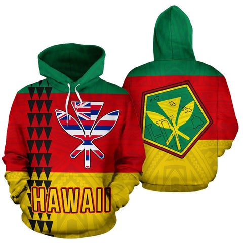 Image of Hawaii Kanaka Flag Hoodie