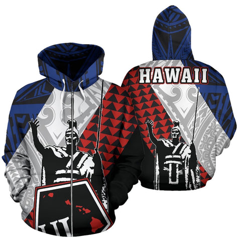 Kanaka King Polynesian Zip-up Hoodie - AH