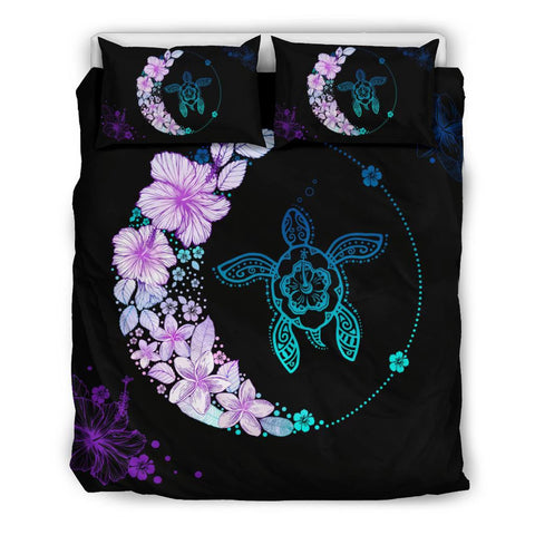 Image of Hawaiian Hibiscus Plumeria Turtle Colorful Flower Bedding Set - AH J2 - Alohawaii