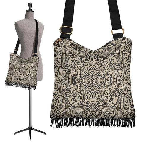 Polynesian Tribal Crossbody Boho Handbag Royal - AH - J7