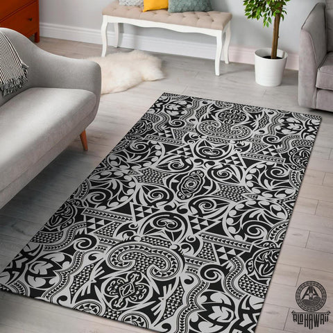 Image of Polynesian Gray Area Rug - AH J9 - Alohawaii