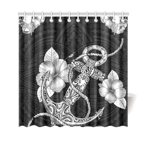 Polynesian Anchor Shower Curtain - AH - J4 - Alohawaii