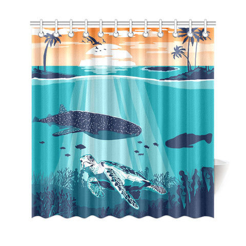 Image of Sea Sunset Shower Curtain - AH J9 - Alohawaii