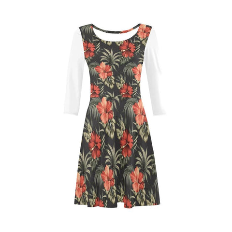 Hibiscus Skillful Sleeve Sundress - AH
