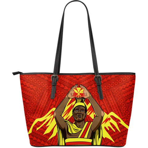 Hawaii Leather Tote (Large) - King Mauna Kea - AH - J11 - Alohawaii