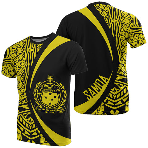 Image of Samoa Yellow Polynesian T-Shirt - Circle Style