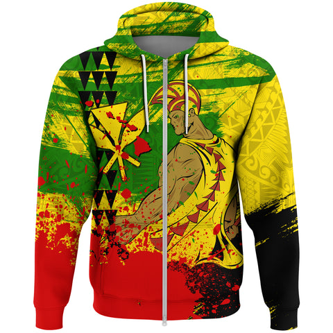 Hawaii Warrior Zip Hoodie