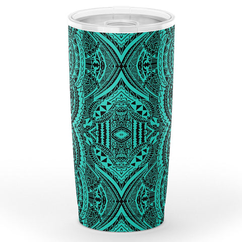 Image of Hawaii Polynesian Symmetry Turquoise Tumbler - AH - J6 - Alohawaii