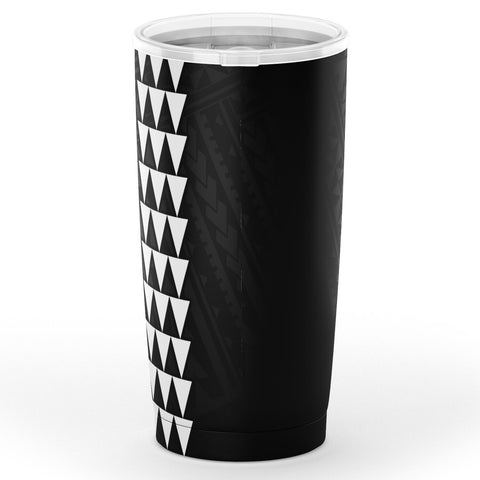 Kakau Polynesian Coat Of Arms Hawaii Tumbler - White - AH - J6 - Alohawaii