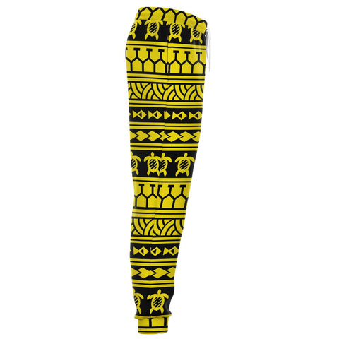Polynesian Tattoo Tribal Yellow Joggers - AH - J1