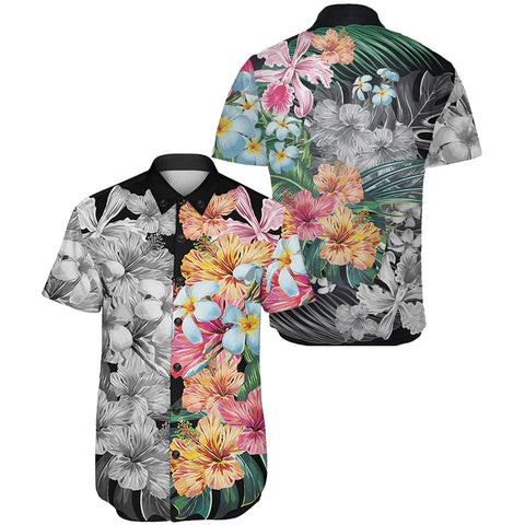Image of Hawaii Forest Tropical Flower Short Sleeve Shirt - AH - J5 - Alohawaii