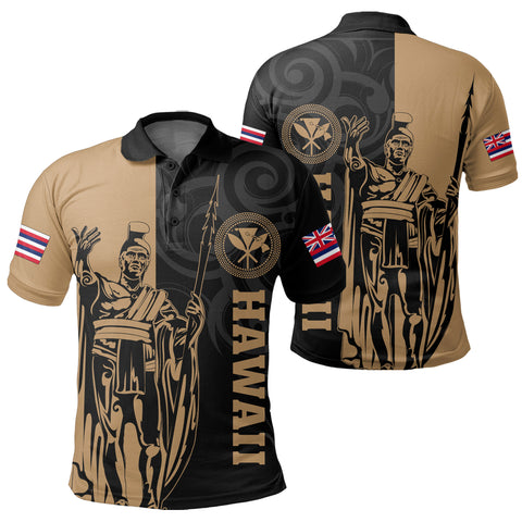 Image of Hawaii King Polynesian Polo Shirt - Lawla Style - AH - J4