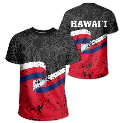 Hawaii Flag Polynesian T-shirt - AH - J4