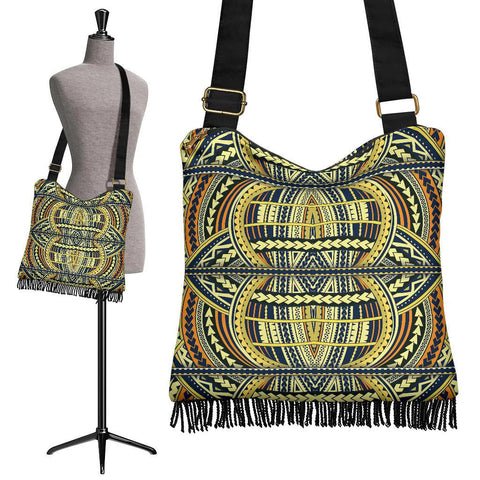 Polynesian Tribal Crossbody Boho Handbag Yellow - AH - J7