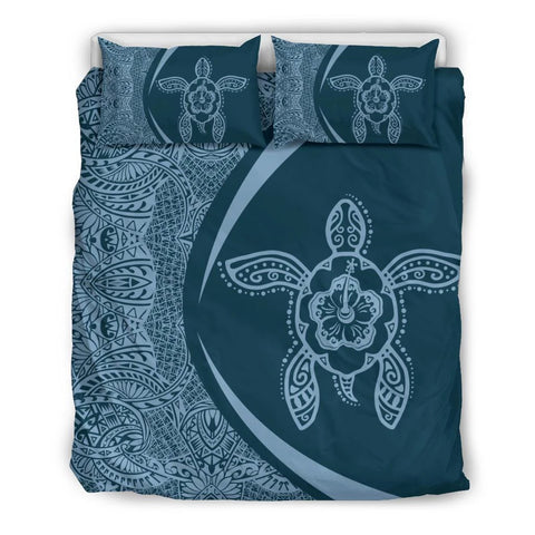 Hawaiian Turtle Hibiscus Polynesian Bedding Set-Circle Style - AH - J7 - Alohawaii