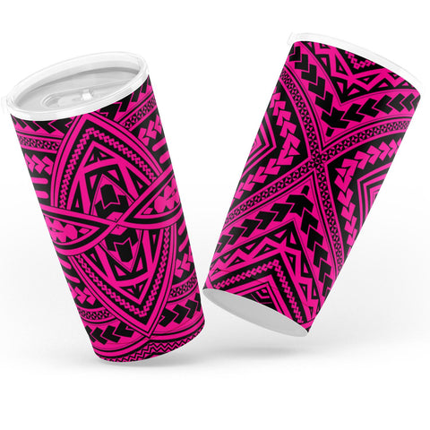 Image of Hawaii Polynesian Seamless Pink Tumbler - AH - J6 - Alohawaii