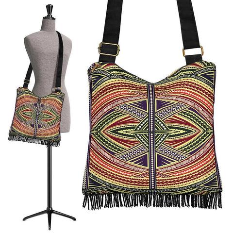 Polynesian Tribal Crossbody Boho Handbag Mix - AH - J7