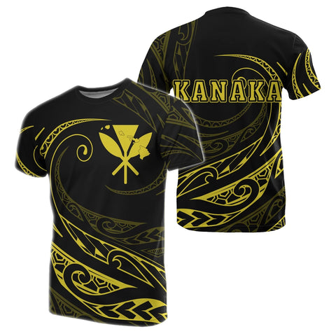 Image of Kanaka T-shirt - Frida Style - Yellow - AH - J91 - Alohawaii