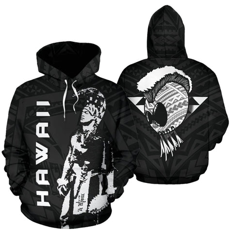 Image of Hawaii Helmet Polynesian Kanaka Warrior Hoodie - AH - J1