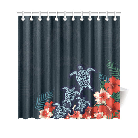 Polynesian Turtle Shower Curtain - AH - J4 - Alohawaii