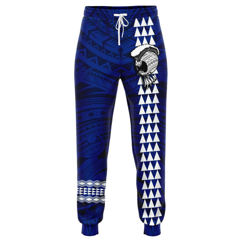 Hawaii Warrior Map Blue Kakau Joggers