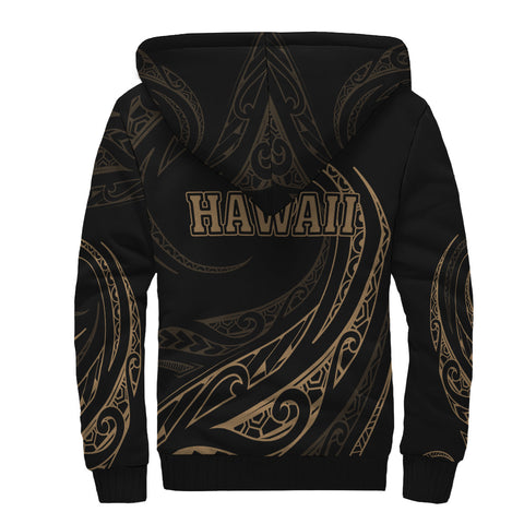 Hawaii Sherpa Hoodie - Frida Style - Gold - AH J9 - Alohawaii