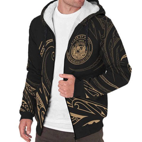 Image of Hawaii Sherpa Hoodie - Frida Style - Gold - AH J9 - Alohawaii